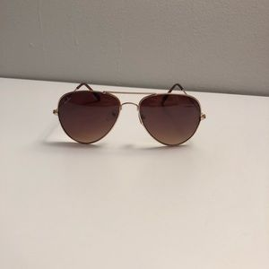 Ray Ban Aviators brown/gold